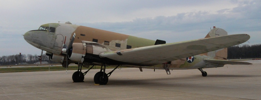 C47 arrive at KHUF for Winter storage.