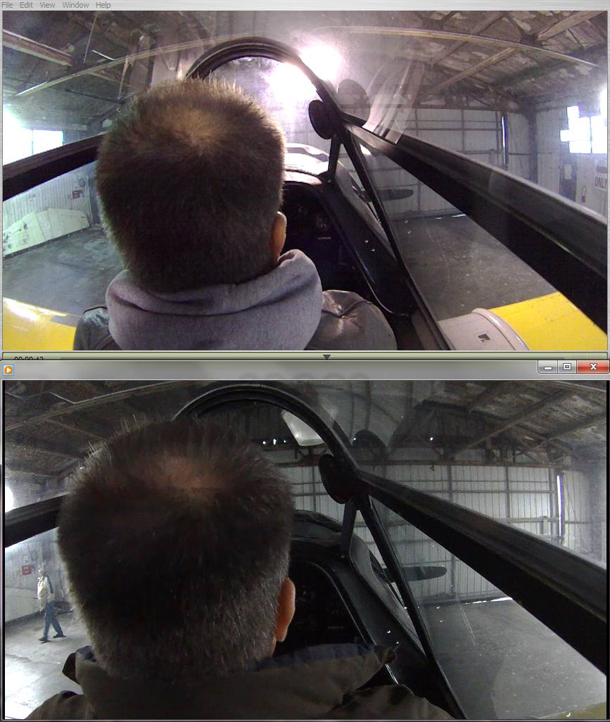 720P/170 degrees on top, 1080P/125 degrees on bottom.