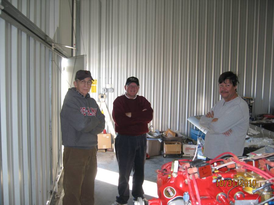 Jerry, Kelvin and John contemplating my Rocket...